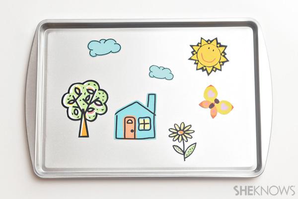 DIY magnet board craft