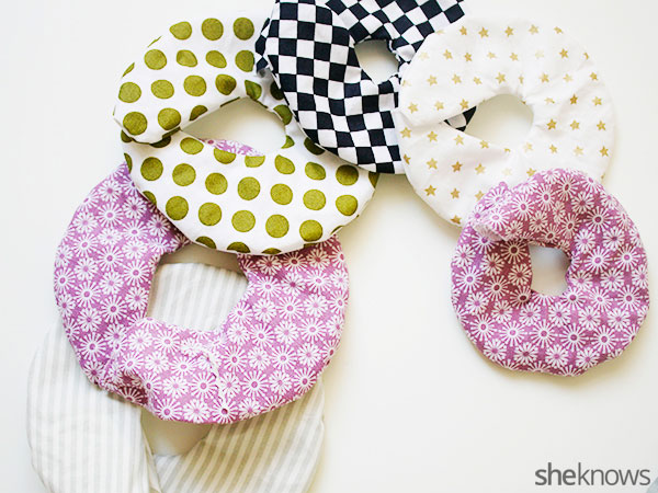 DIY stackable fabric rings: Step 3