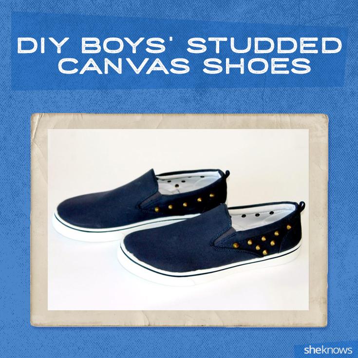 DIY boys' canvas shoes