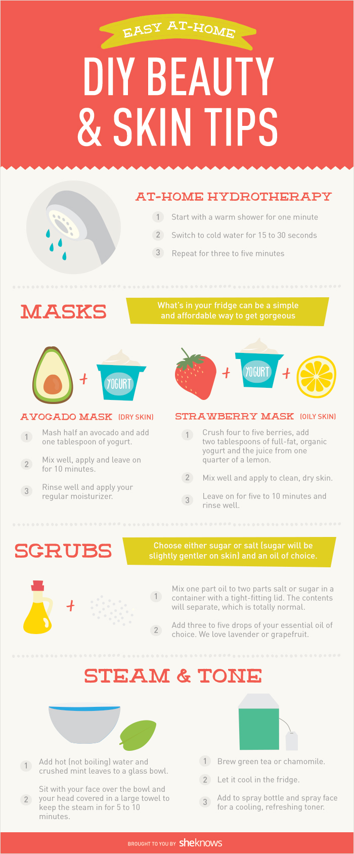 Easy at-home DIY beauty and skin tips