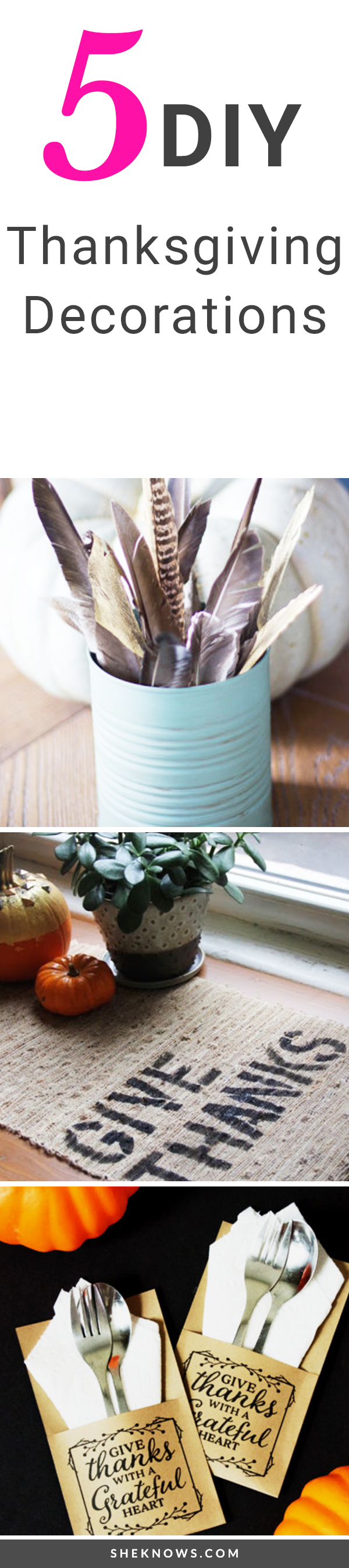 5 DIY decorating ideas to get your dinner table ready for Turkey Day