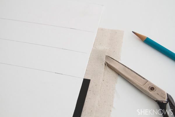 DIY Countertop message center Step 3: stack pockets