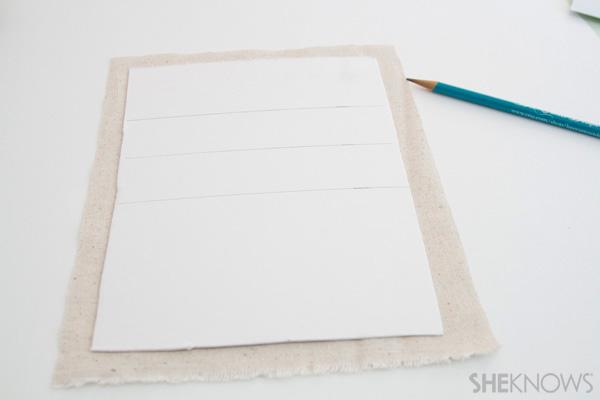 DIY Countertop message center Step 4: cut backing fabric