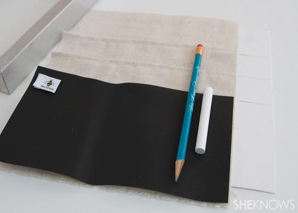 DIY Countertop message center Step 5: Sew pocket tops