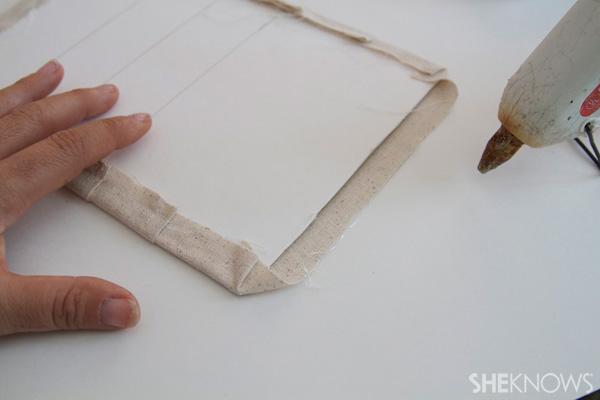 DIY Countertop message center Step 9: glue sides