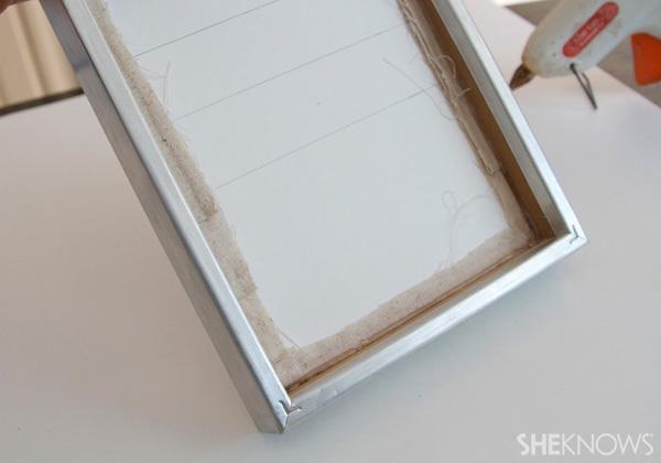 DIY Countertop message center Step 11: insert into frame