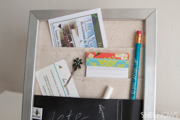 DIY Countertop message center Step 13: complete