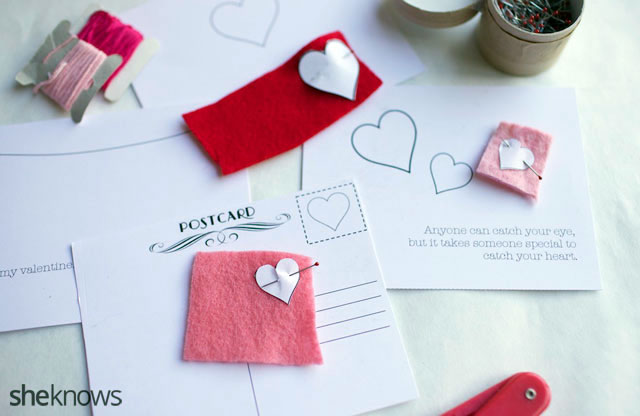DIY Embroidered Valentines Cards 1