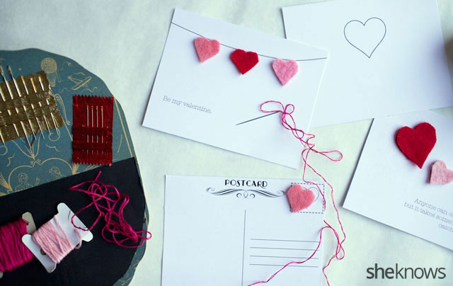DIY Embroidered Valentines Cards 3