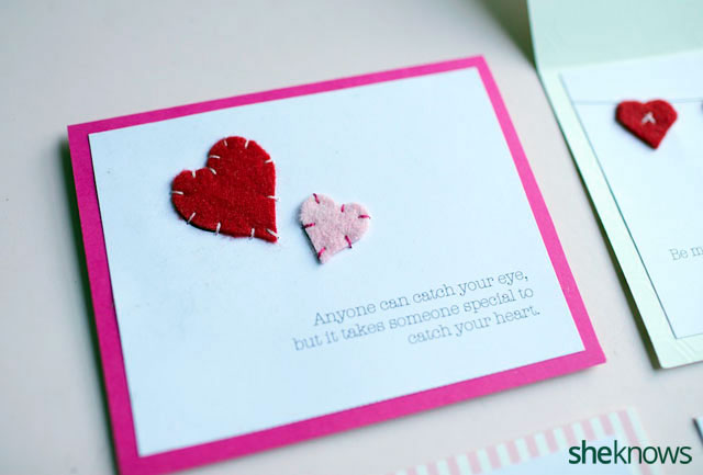 DIY Embroidered Valentines Cards 5