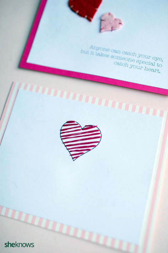 DIY Embroidered Valentines Cards 6