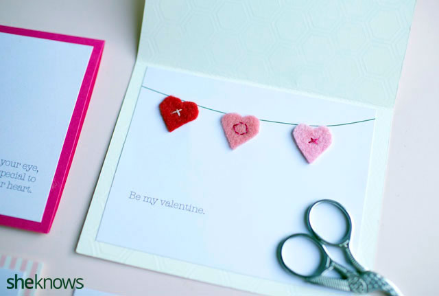 DIY Embroidered Valentines Cards 4