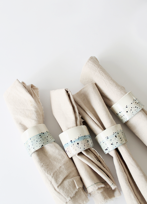 DIY Mother's Day Gifts: DIY Faux Ceramic Napkin Holders