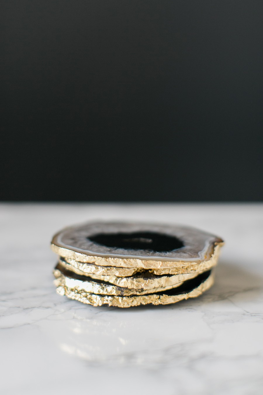 DIY Mother's Day Gifts: DIY Gilded Agate Coasters