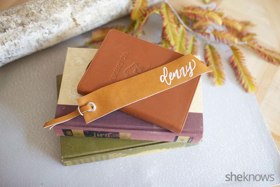 DIY Leather Bookmarker
