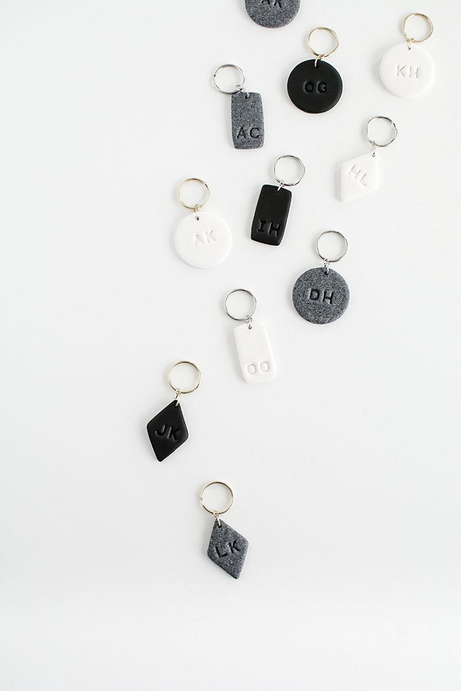 DIY Mother's Day Gifts: DIY Monogram Key Chains