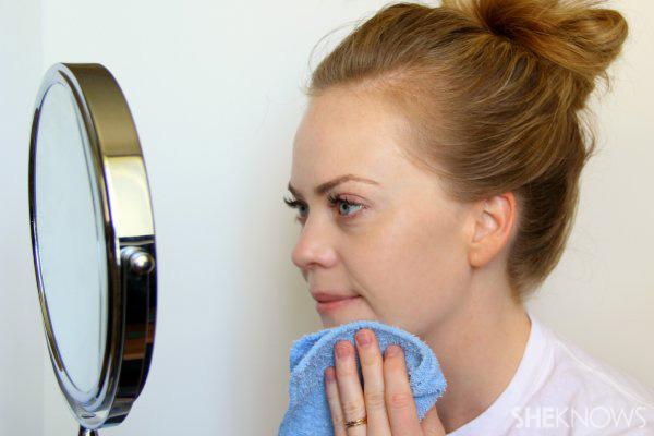 DIY Natural hydrating face mask Step 7: rinse