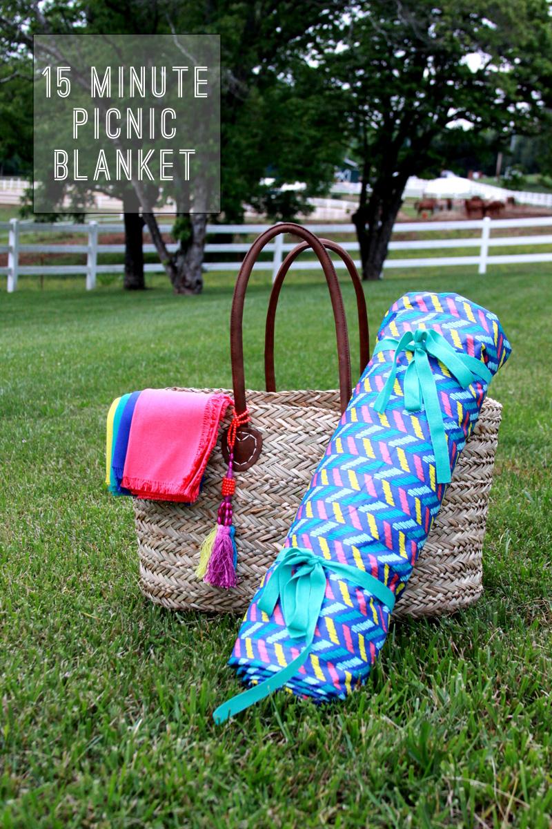 15 minute DIY picnic blanket