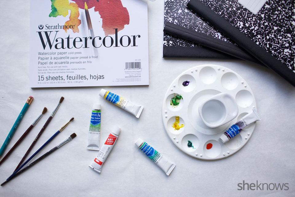 DIY Watercolor Notebook Journals 6