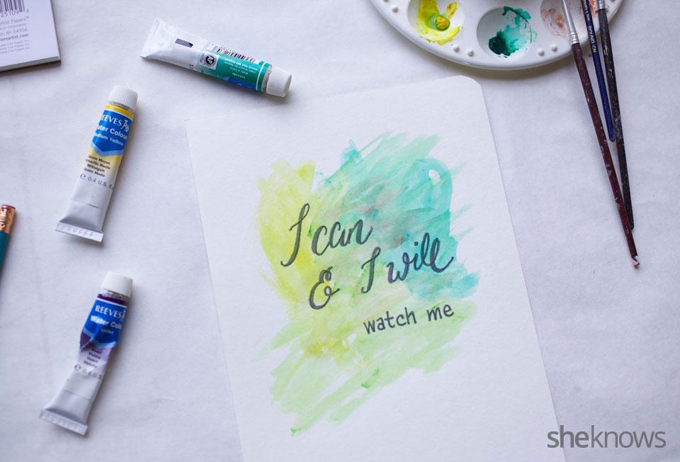 DIY Watercolor Notebook Journals 12