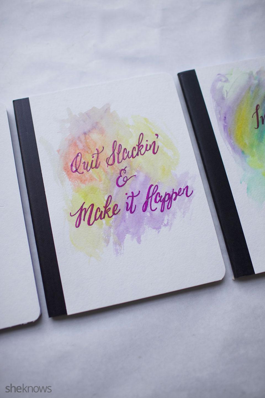 DIY Watercolor Notebook Journals