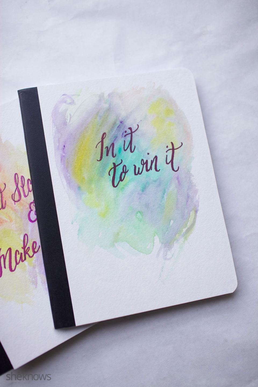 DIY Watercolor Notebook Journals 13