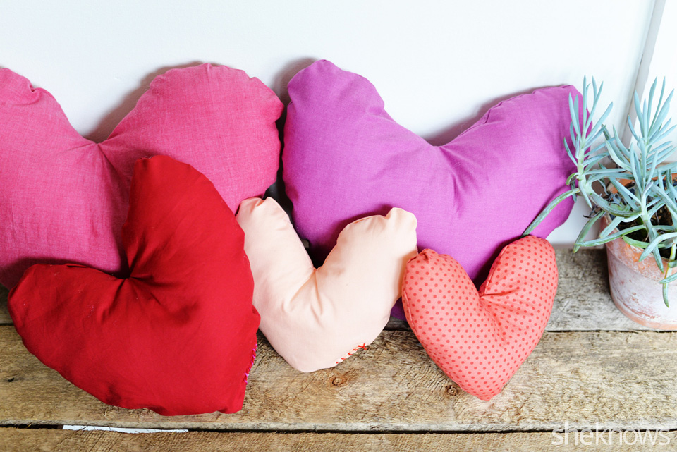 DIY Heart Pillow: Finished 1