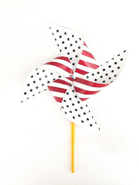 DIY printable patriotic pinwheel