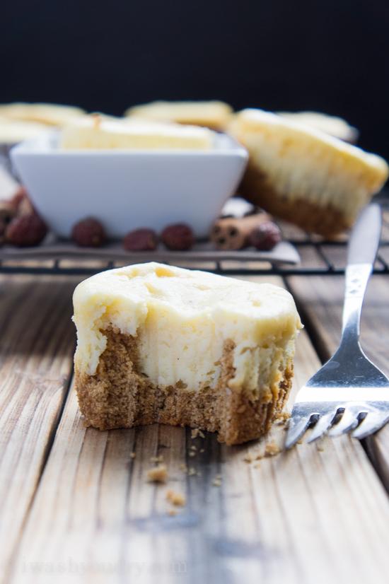 eggnog cheesecakes