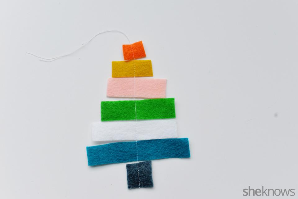 DIY felt ornaments Mini tree: Step 3