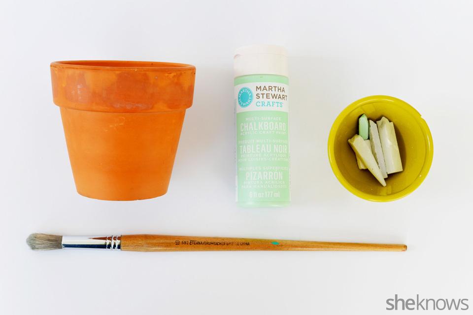 DIY Chalkboard Flower Pot