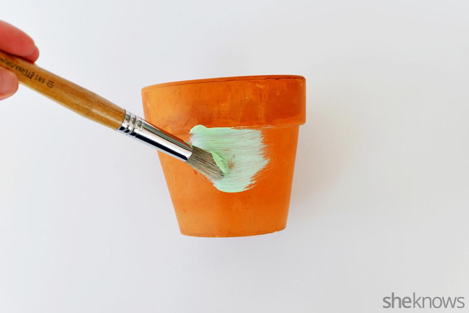 DIY Chalkboard Flower Pot 2