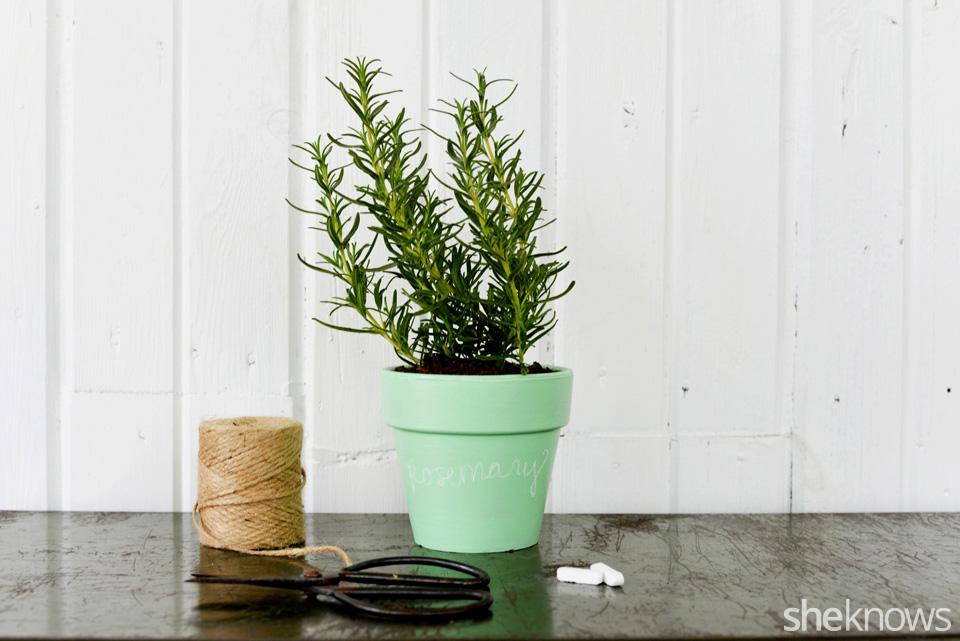 DIY Chalkboard Flower Pot 4