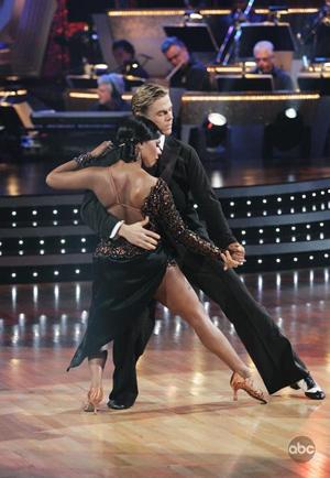 Kim and Derek dazzle