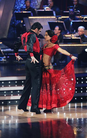 Melissa was a little off this week on DWTS