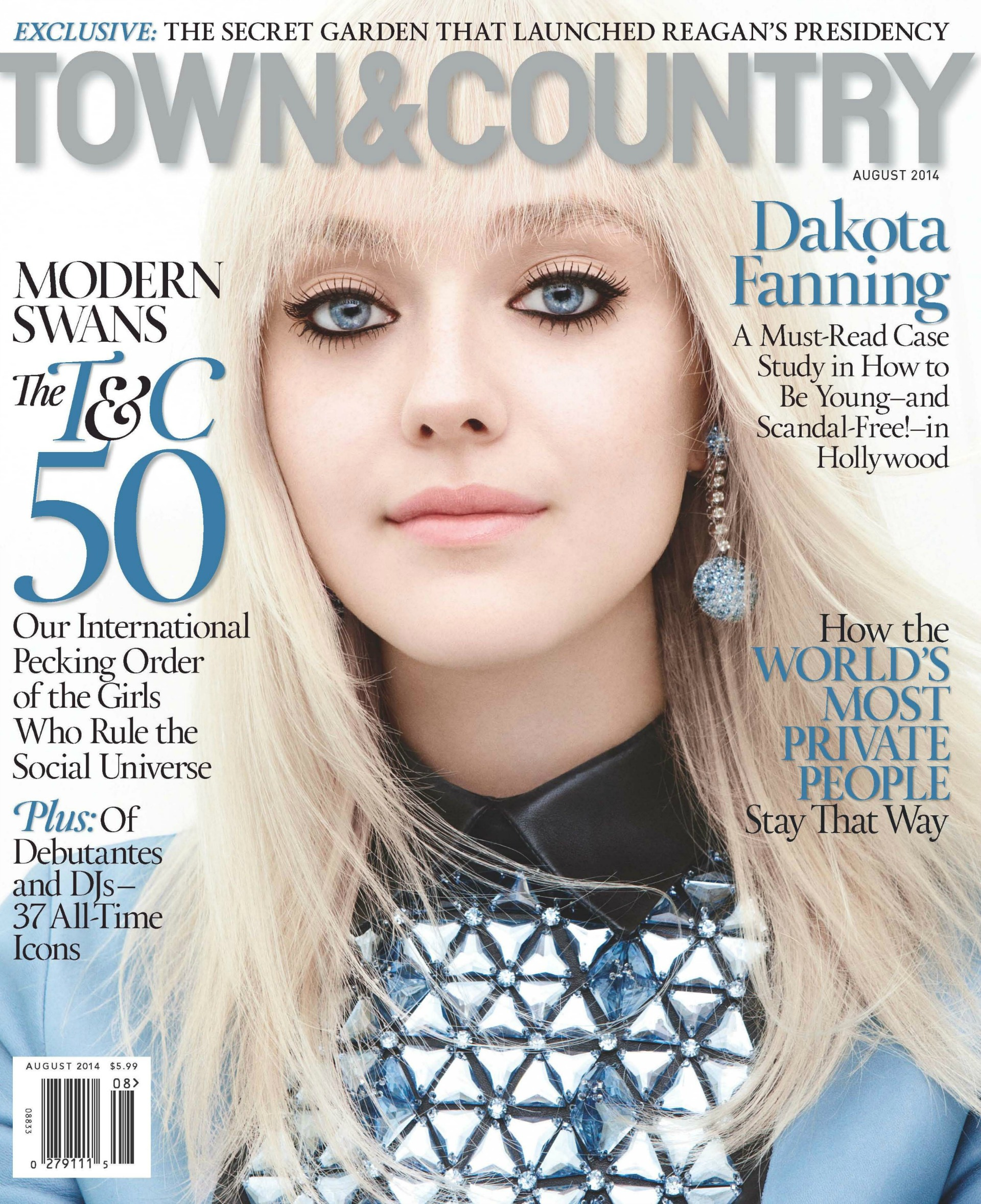 Dakota Fanning covers Town & Country August