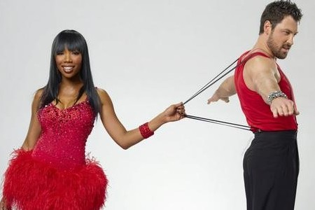 Brandy and Maks on Dancing with the Stars