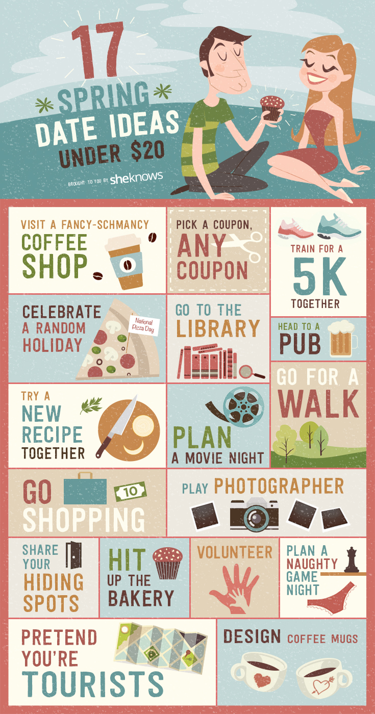 17 Spring date ideas under $20 infographic