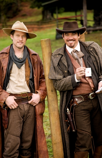 James Tupper and Dean Cain in The Gambler, the Girl and the Gunslinger