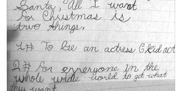 Dear Santa: Gifts to the world