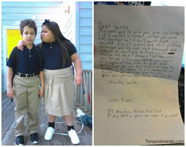 Dear Santa: Please help my twin sister