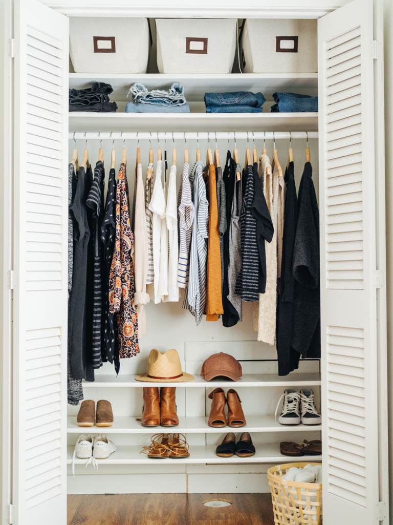 "Decluttering your Closet | Set Aside ""Yes"" pieces"