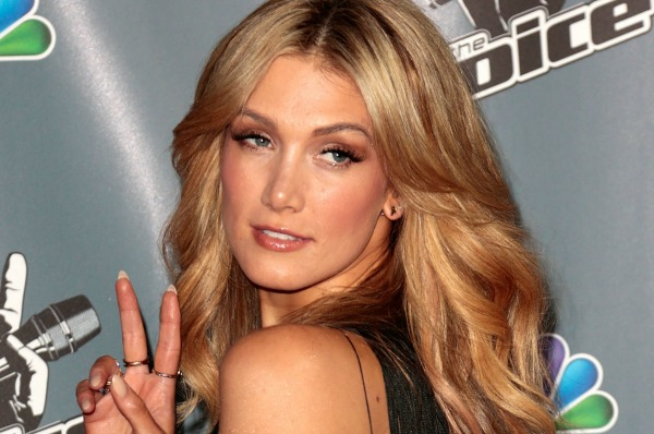 Delta Goodrem and bright celebrity hairstyles
