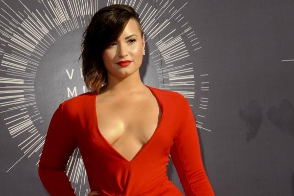 Demi Lovato and the plunging neckline trend