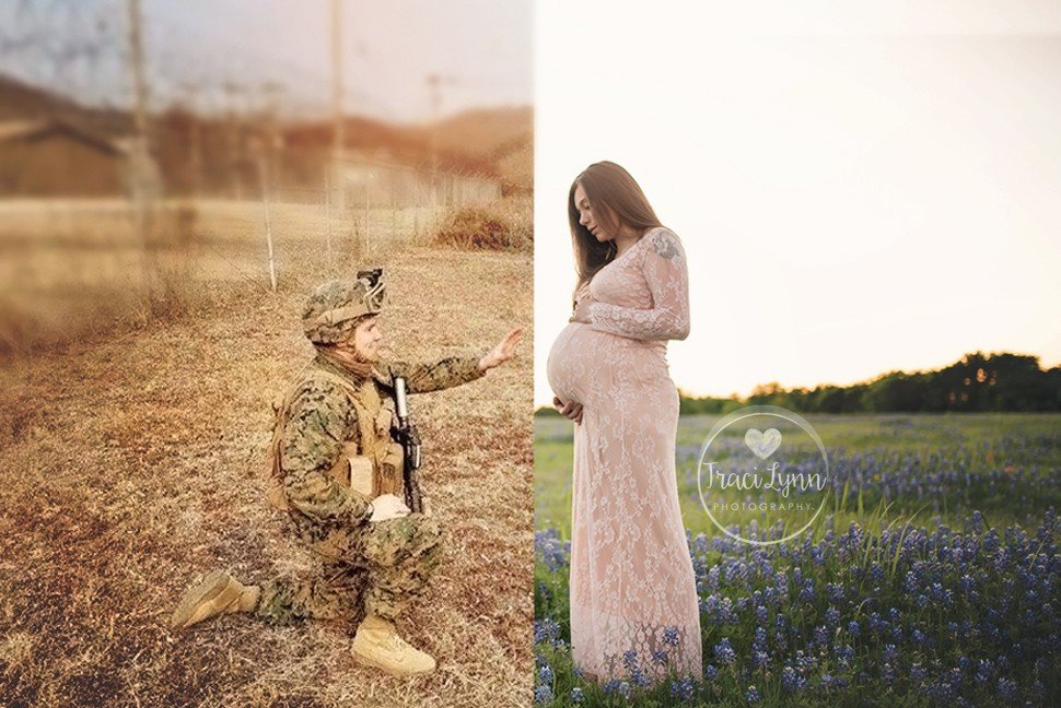 Deployed Dad in maternity photos 2