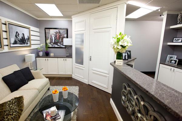 Jenner Communications reception area designed by Kris Swift & Miera Melba
