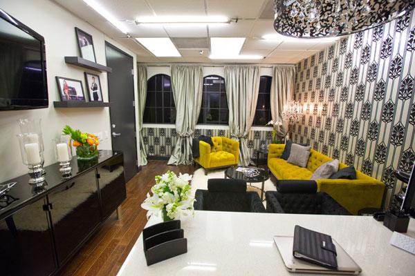 Kris Jenner's office designed by Rachel Kate & Stanley Palmieri