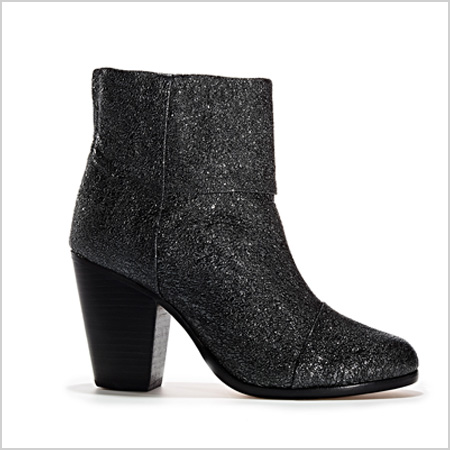 Designer Black Sparkle Booties