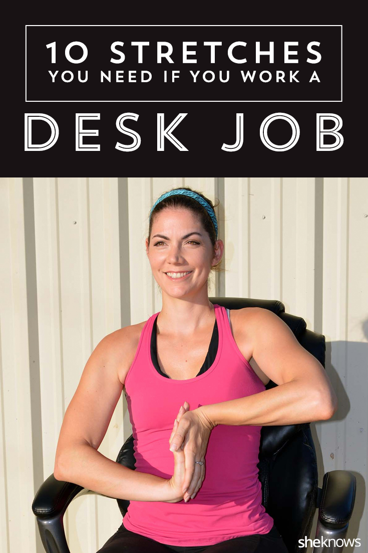 Desk job stretches Pinterest