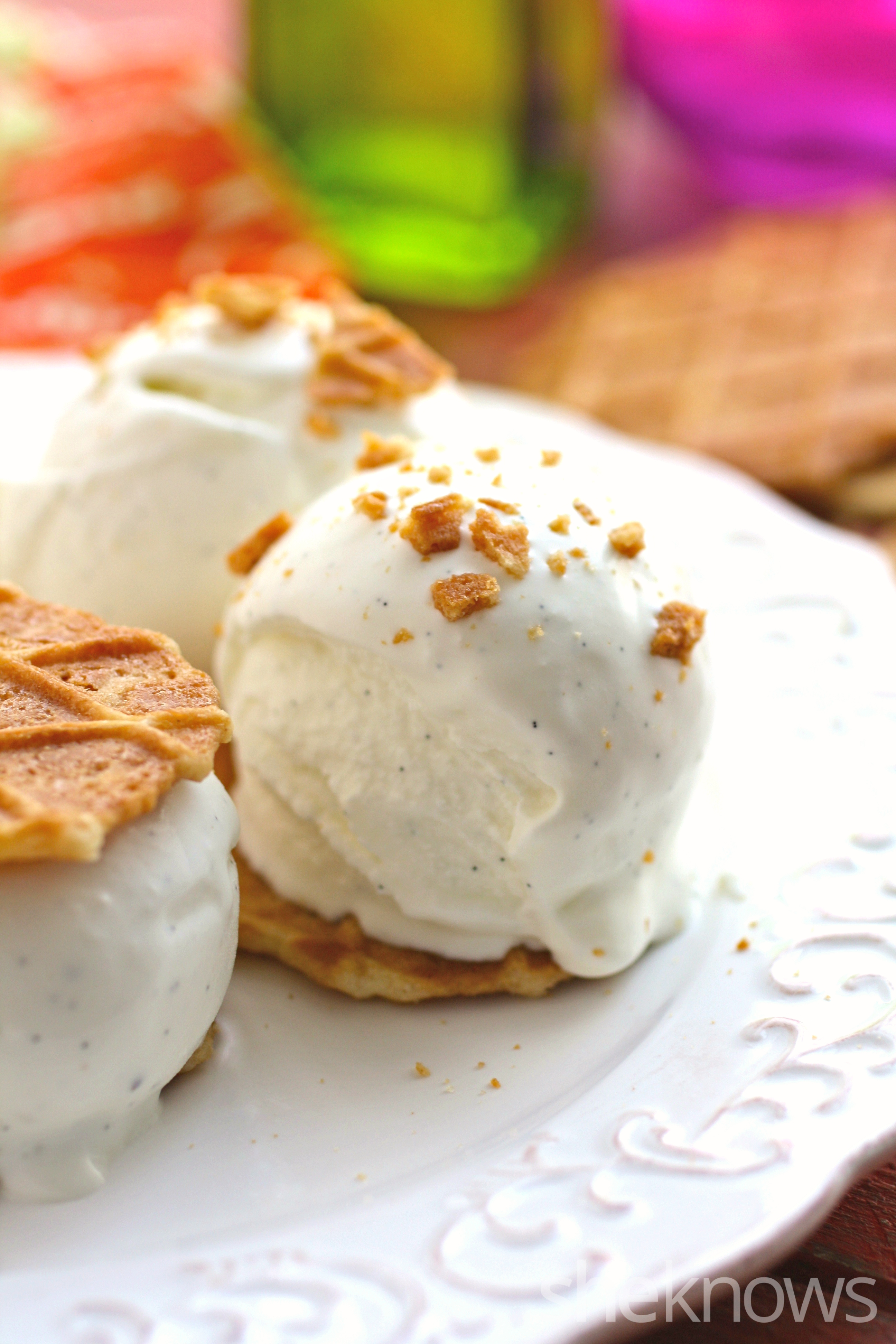 Try a sophisticated treat with olive oil and vanilla bean ice cream sandwiches